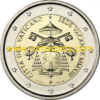2 Euro Sondermünzen Vatikan 2019 2018 2017 2016 2015 2014 2013