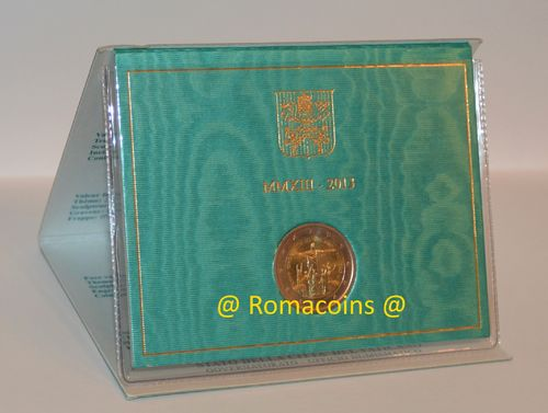 2 Euro Commemorativi Vaticano 2013 in Folder Rio Fdc