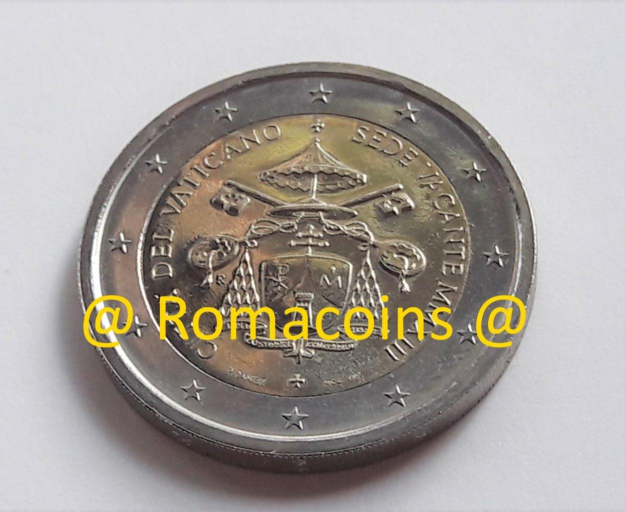 2 Euro Vatikan 2013 Sedisvakanz Sondermuenze Ohne Blister Roma