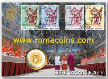 2 Euro Vatikan Numisbrief 2013 Sedisvakanz Romacoins