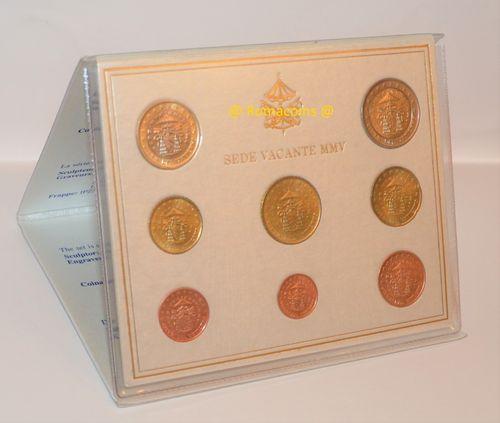 Vatikan Kms 2005 Sedisvakanz Euro Kursmünzensatz Romacoins
