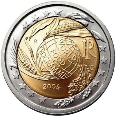 2 Euro Commemorative Coin Italy 2004 World Food Programme Romac