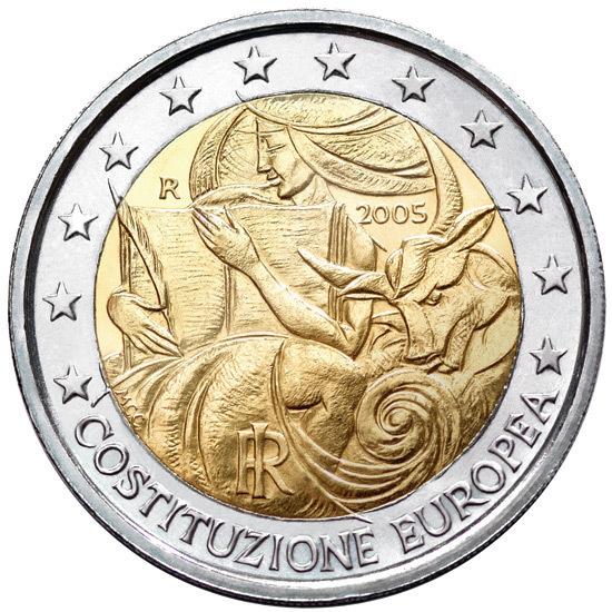 2 Euro Commemorative Coin Italy 2005 Costituzione Europea Romac