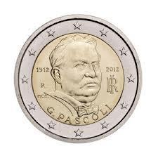 2 Euro Sondermünze Italien 2012 Giovanni Pascoli Bankfrisch Romac