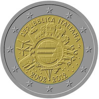 2 Euros Commémoratives Italie 2019 2018 2017 2016 2015 2014 2013