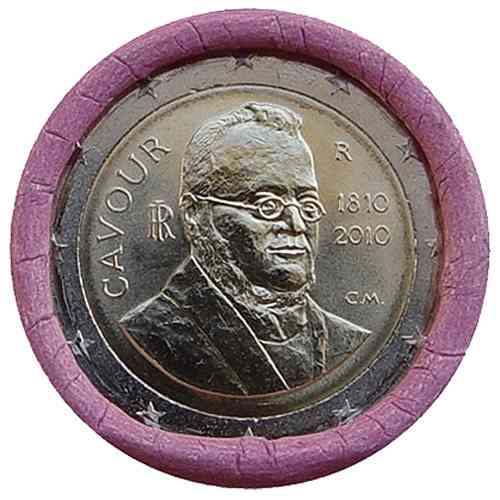2 Euro Italien 2010 Camillo Cavour Muenzrolle