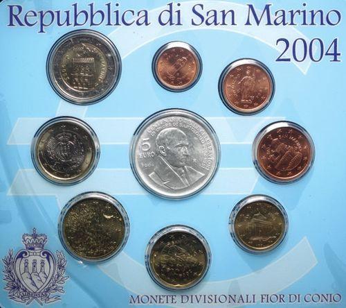 San Marino Kms 2004 Kursmünzensatz Euro Stempelglanz Romacoins