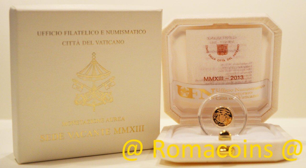 10 euro vaticano 2013 oro sede vacante fondo specchio romacoins - Sterlina oro 2017 fondo specchio ...