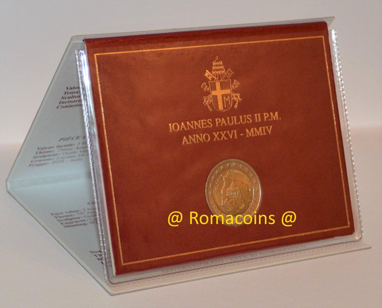2 Euro Sondermünze Vatikan 2004 Stempelglanz St Romacoins