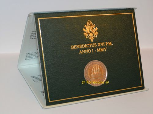 2 Euro Commemorativi Vaticano 2005 in folder Fdc
