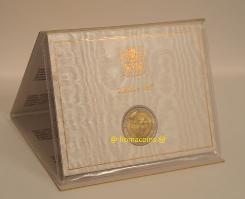 2 Euro Commemorativi Vaticano 2009 in Folder Fdc
