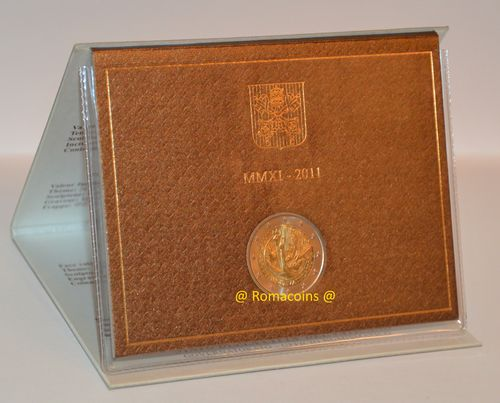 2 Euro Commemorativi Vaticano 2011 in Folder Fdc