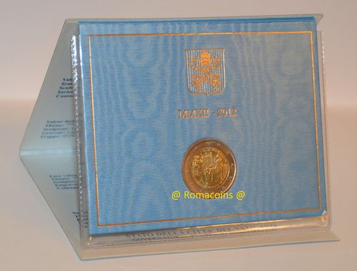 2 Euro Commemorativi Vaticano 2012 in Folder Fdc