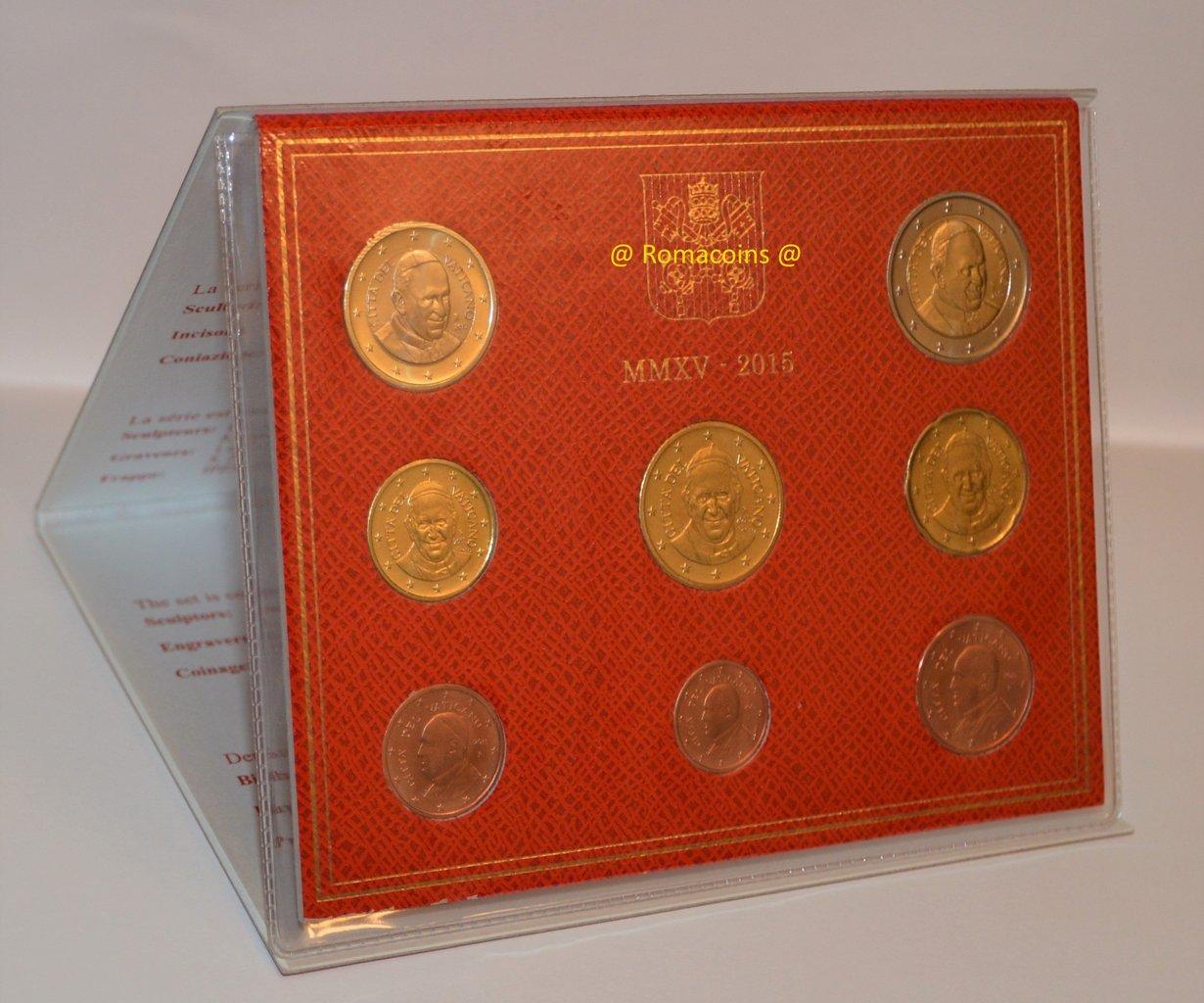 Vatikan Kms 2015 Euro Kursmünzensatz Stempelglanz