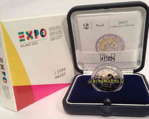 2 Euro Italy 2015 Expo Proof