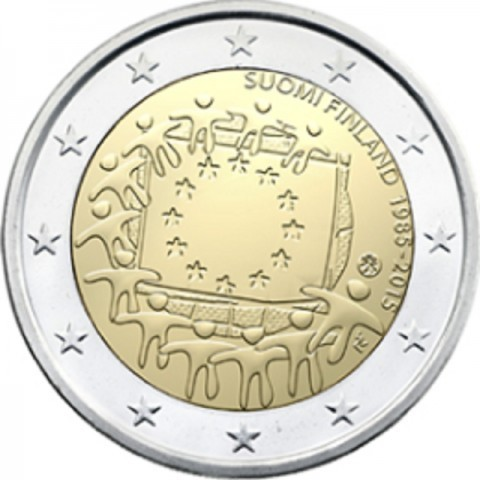 2 Euro Sondermünze Finnland 2015 Europaflagge Unc Romacoins