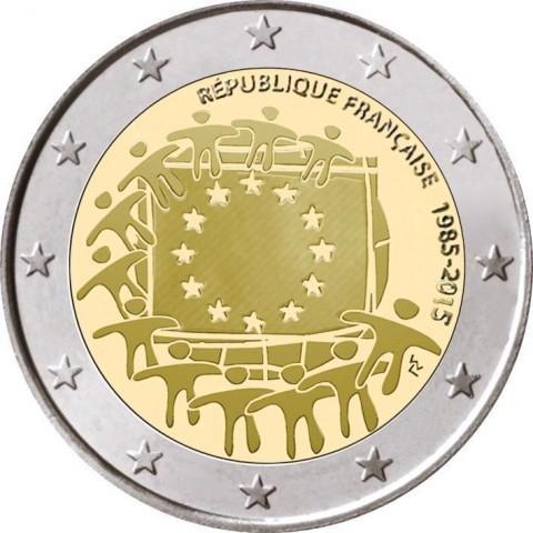 6b55f186d4 2 Euro Francia 2015 30 Anni Bandiera Europea Fdc - Romacoins