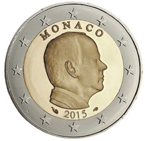 2 euros monaco 2015 unc romacoins. Black Bedroom Furniture Sets. Home Design Ideas