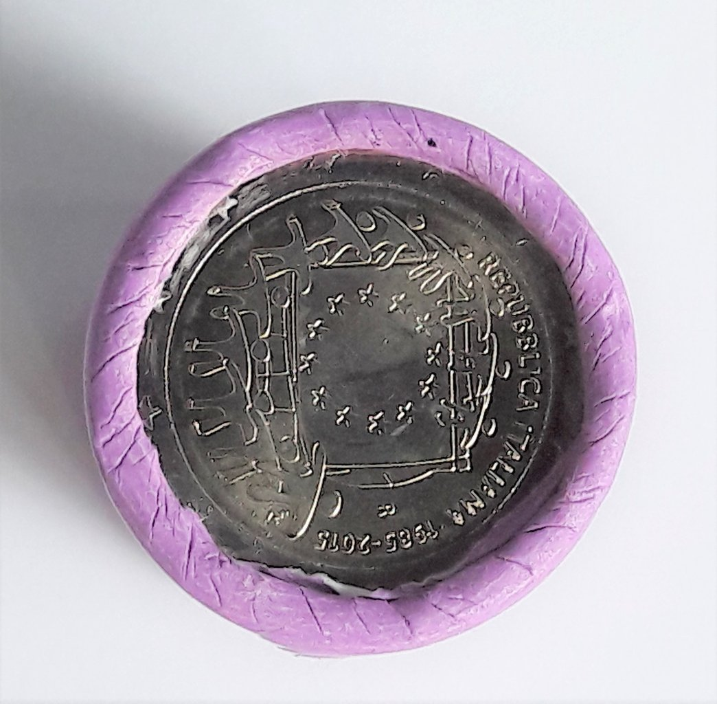 2 Euro Italien 2015 30 Jahre Europaflagge Roll Münzen Romacoins