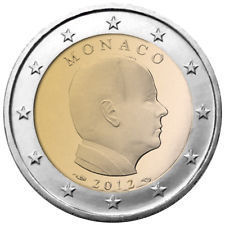 2 Euro Monaco 2012 Moneta Unc. Introvabile !!!!!