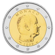 2 Euro Monaco 2009 Moneta Unc. Introvabile !!!!!