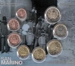 San Marino Bu Set 2013 Euro 8 Coins Romacoins