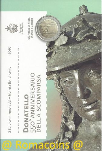 2 Euro Commemorative Coin San Marino 2016 Donatello