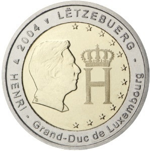 2 Euro Commemorative Coin Luxembourg 2004