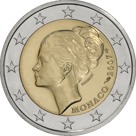 2 Euro Commemorativi Monaco 2007 Grace Kelly Moneta