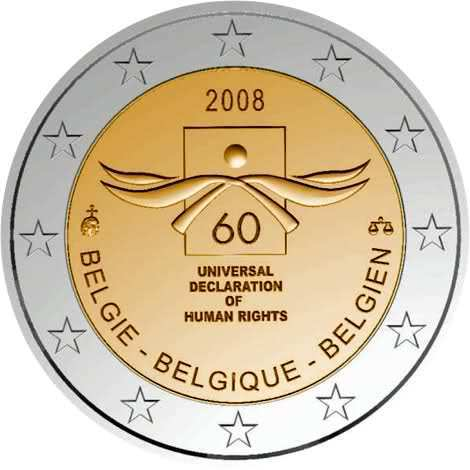 2 euros comm morative belgique 2008 pi ce romacoins. Black Bedroom Furniture Sets. Home Design Ideas