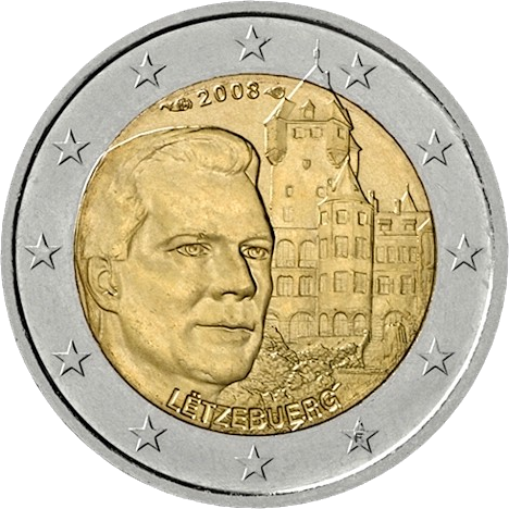 2 Euro Commemorativi Lussemburgo 2008 Moneta
