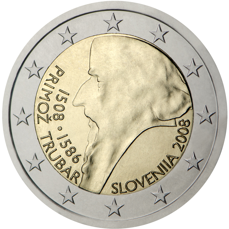 2 euro commemorative coin slovenia 2008 romacoins. Black Bedroom Furniture Sets. Home Design Ideas