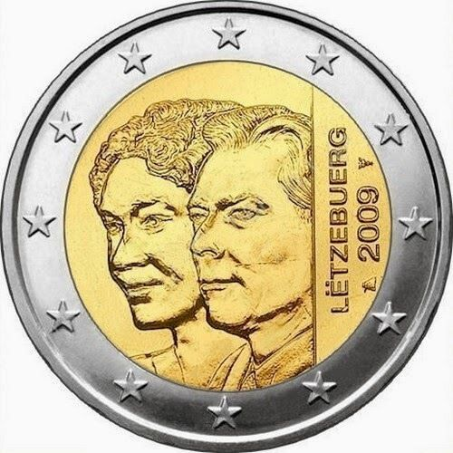 2 Euro Commemorativi Lussemburgo 2009 Moneta