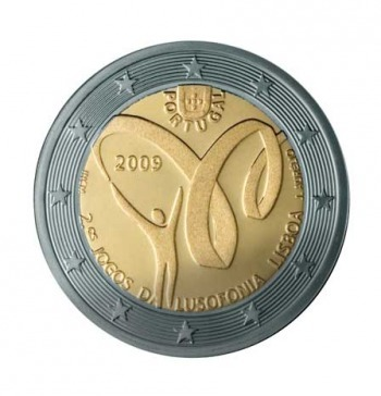 2 Euro Commemorativi Portogallo 2009 Moneta