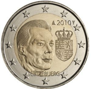 2 Euro Commemorativi Lussemburgo 2010 Moneta