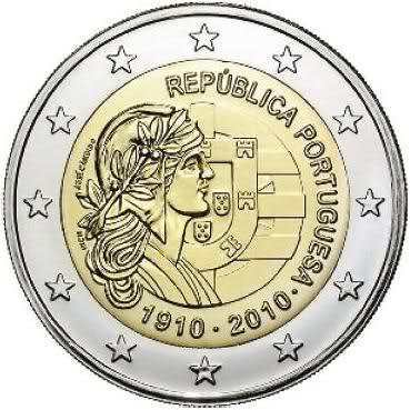 2 Euro Commemorativi Portogallo 2010 Moneta