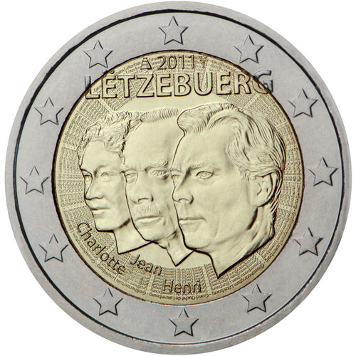 2 Euro Commemorativi Lussemburgo 2011 Moneta