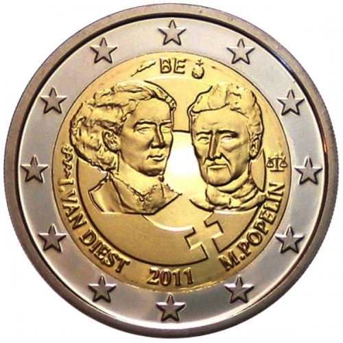 2 euro commemorative coin belgium 2011 romacoins. Black Bedroom Furniture Sets. Home Design Ideas