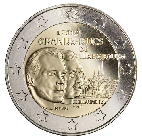 2 Euro Commemorativi Lussemburgo 2012 Moneta Morte