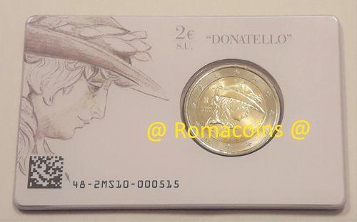 2 Euro Sondermünze Italien 2016 Coincard Donatello St Romacoins