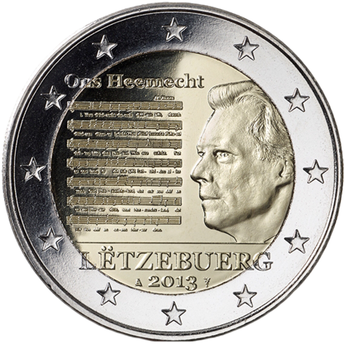 2 Euro Commemorativi Lussemburgo 2013 Moneta