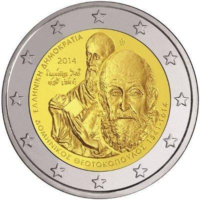 2 Euro Sondermünze Griechenland 2014 Münze El Greco Romacoin