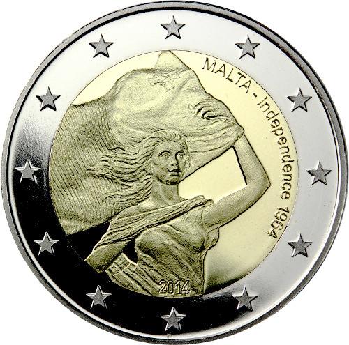 2 Euro Sondermünze Malta 2014 Münze Unabhängigkeit Romacoins