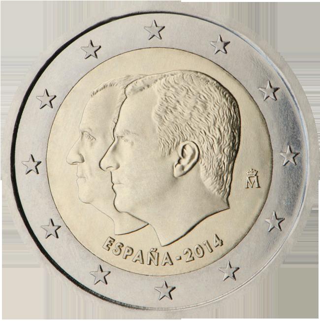 2 Euro Sondermünze Spanien 2014 Münze Felipe Vi Romacoins