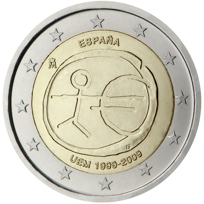 2 euro commemorative coin spain 2009 emu romacoins. Black Bedroom Furniture Sets. Home Design Ideas