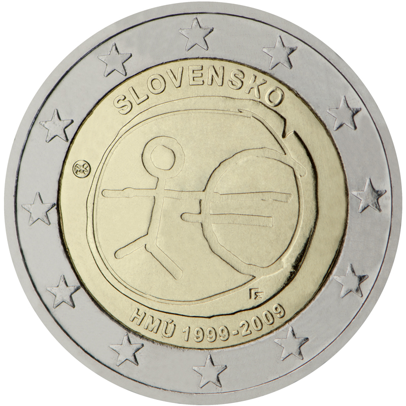 2 euro commemorative coin slovakia 2009 emu romacoins. Black Bedroom Furniture Sets. Home Design Ideas