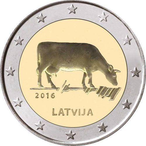 2 Euro Sondermünze Lettland 2016 Münze Kuh Romacoins