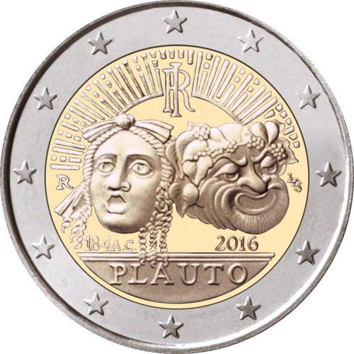 2 Euro Sondermünze Italien 2016 Münze Plauto Romacoins