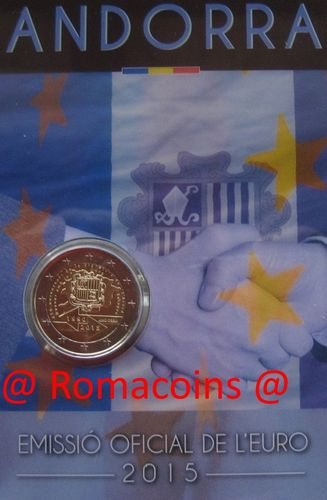 Coincard 2 Euro Andorra 2015 25 Years Customs Agreement