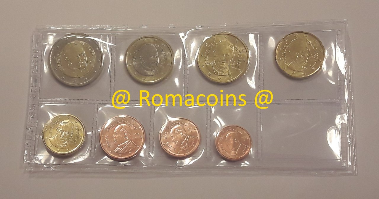 Vatican Official Euro Coin Set BU 2006 from 1 cent to 2 euro